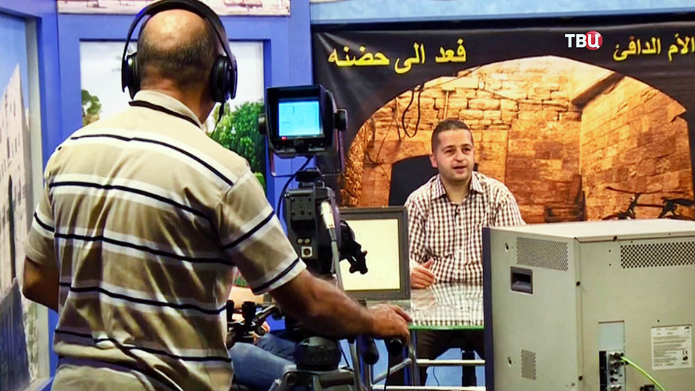 Работа телестудии в Сирии