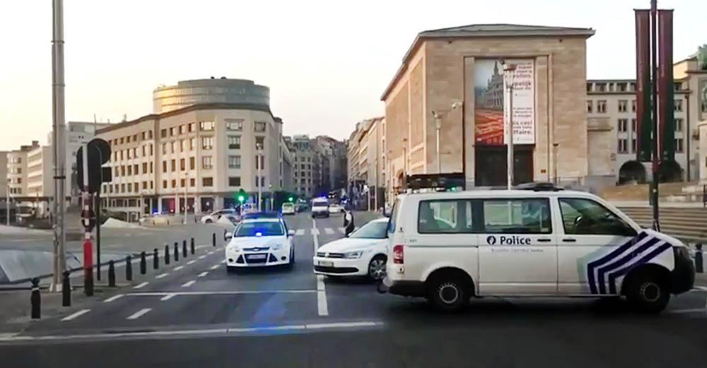 Полиция Брюсселя на месте происшествия