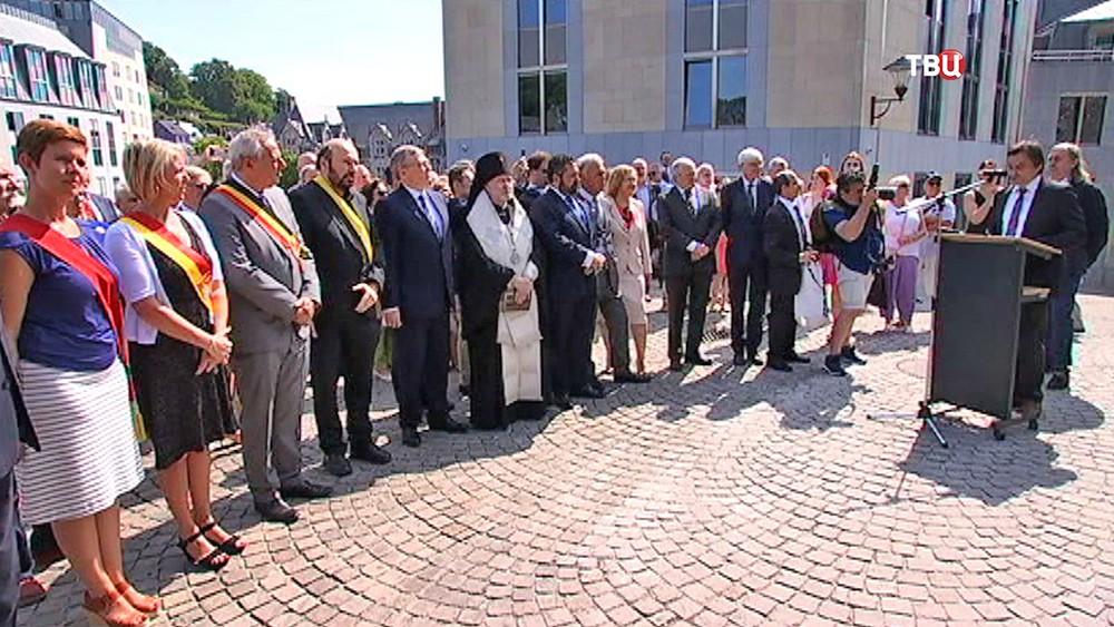 Открытие памятника Петру I в Бельгии