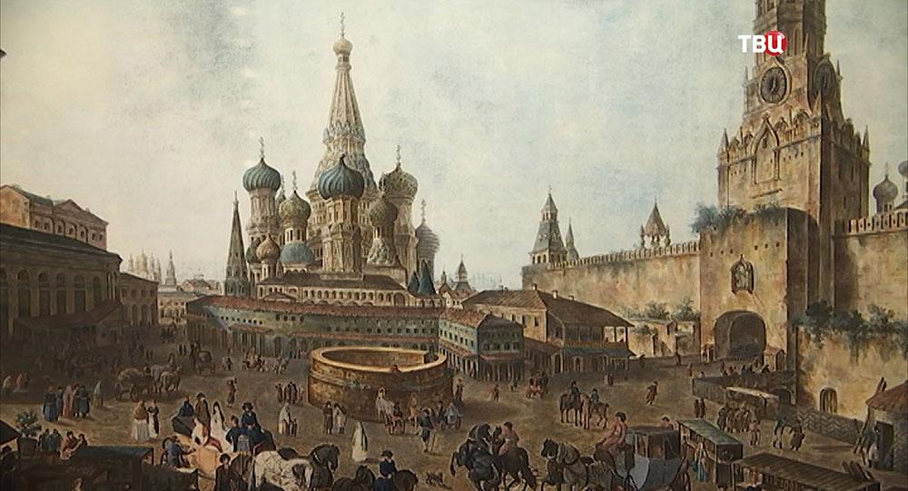 Пейзаж старой Москвы