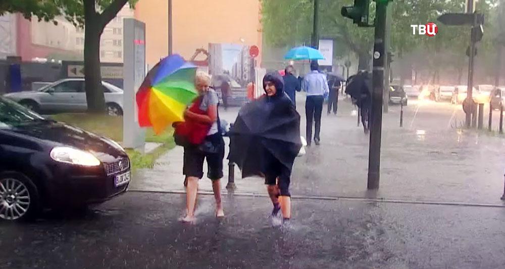 Последствия ливня в Германии