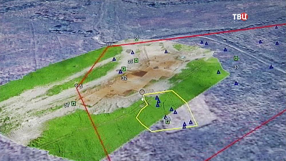 Зона археологических раскопок в Приморье