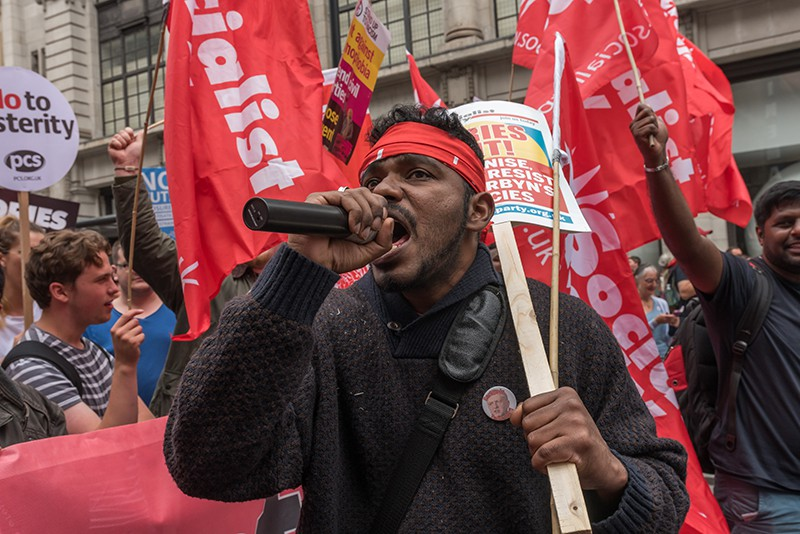 Протесты в Лондоне