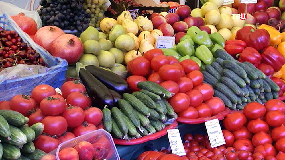 Овощи на прилавке