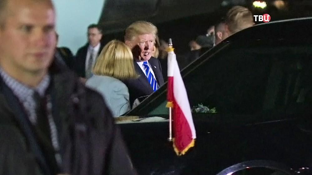 Дональд Трамп в Польше