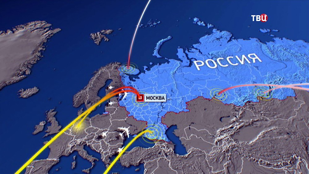 Модель нанесения ядерного удара по России