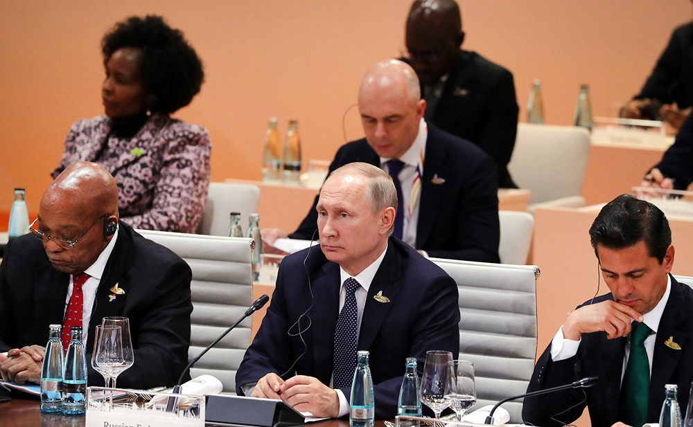 Президент России Владимир Пути на саммите G20