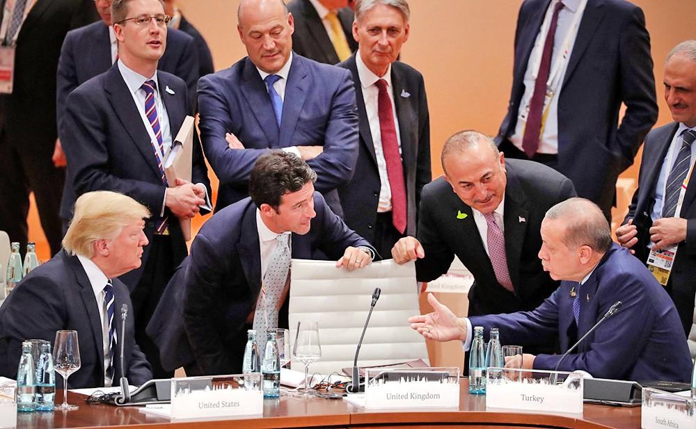 Президент США Дональд Трамп и президент Турции Реджеп Эрдоган