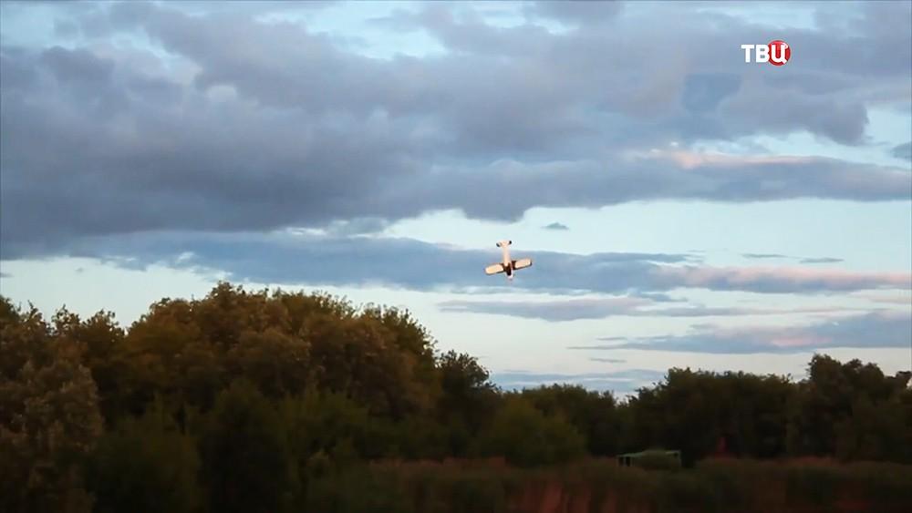 Момент падения самолета на авиашоу под Тамбовом