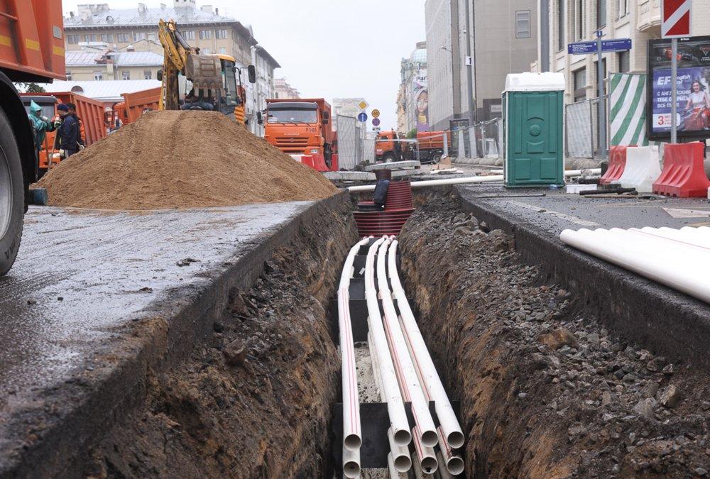 Работы по устройству кабельной канализации