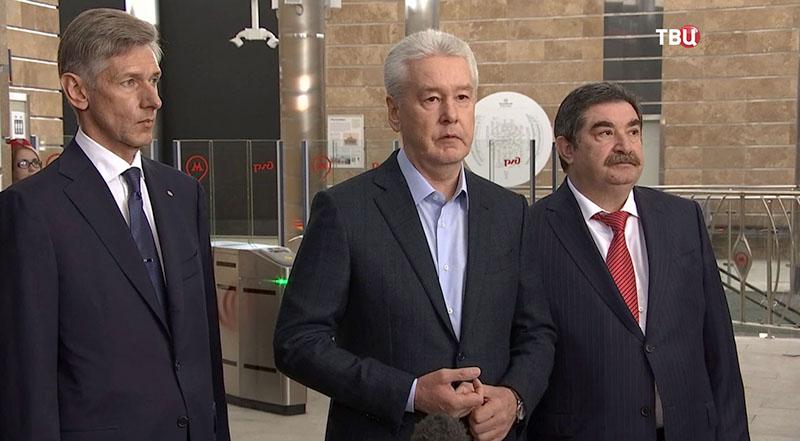 Сергей Собянин осматривает станцию МЦК