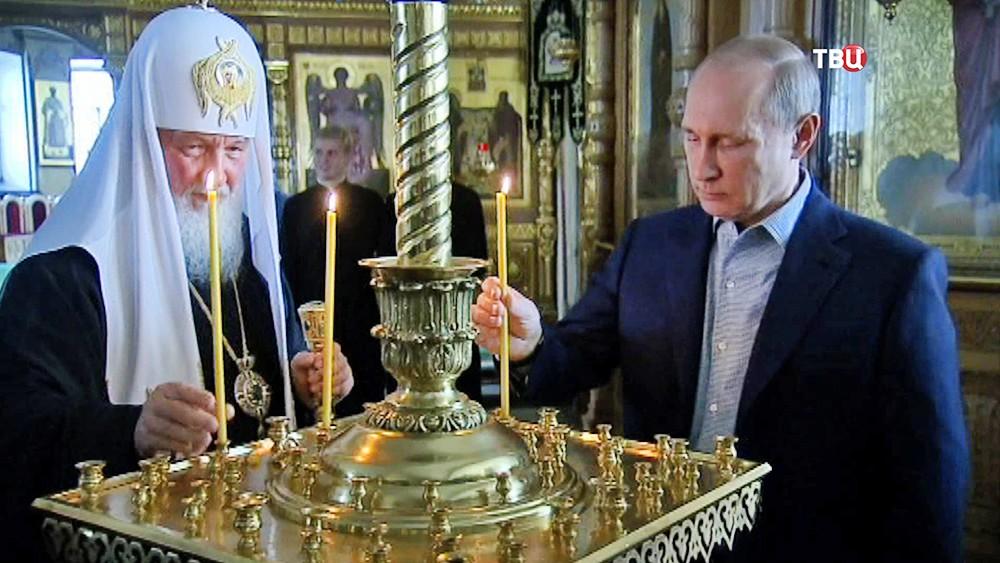 Владимир Путин и патриарх Московский Кирилл посетили Валаамский монастырь