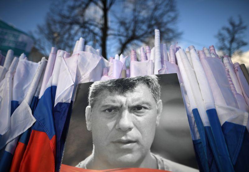 На марше памяти политика Бориса Немцова, приуроченного ко второй годовщине убийства политика