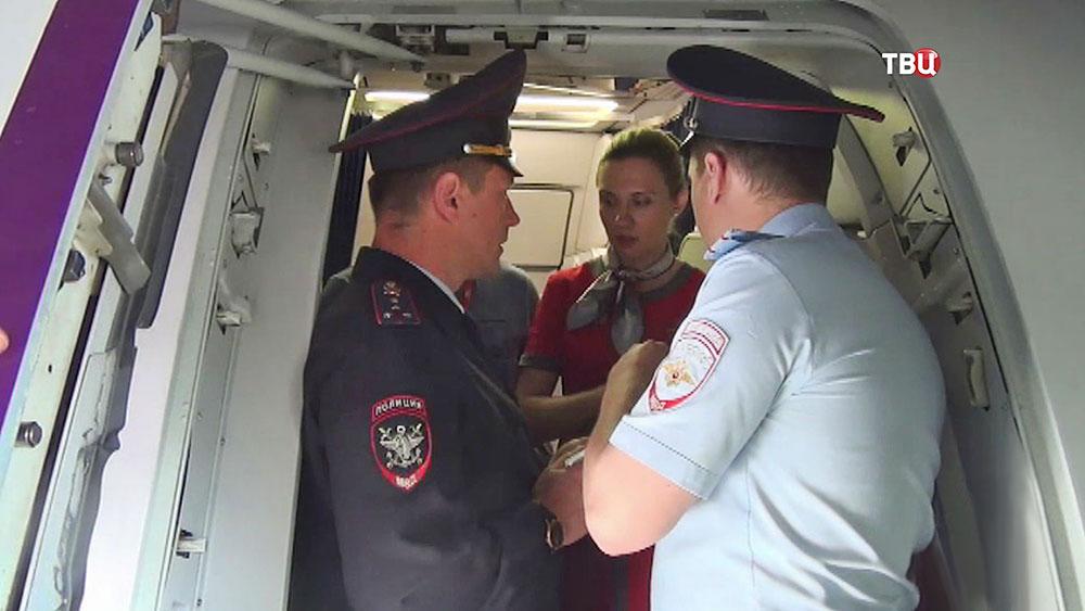 Транспортная полиция в самолете