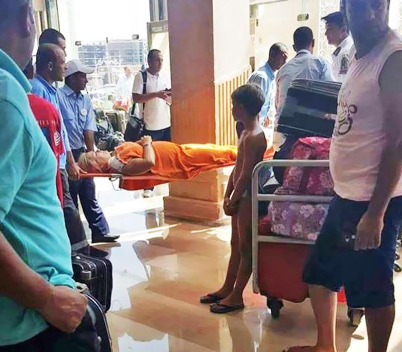 Пострадавшие от нападения туристы в Египте