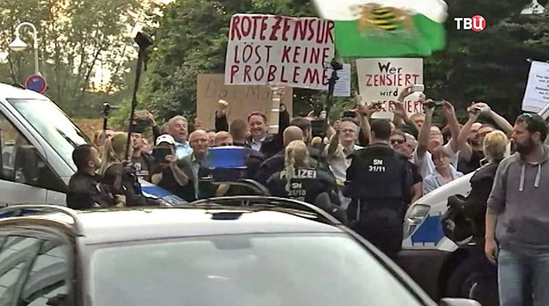 Акция протеста в Дрездене