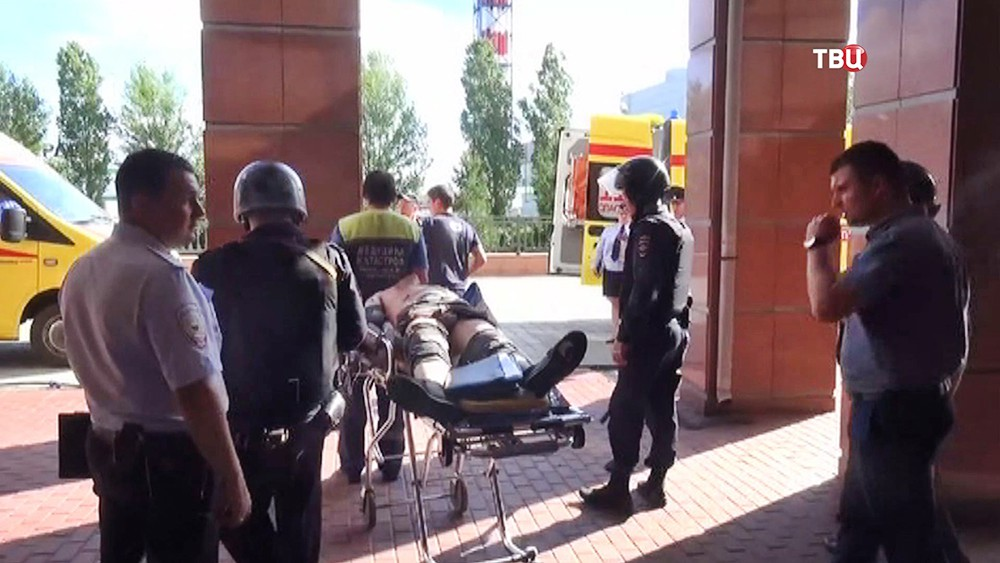 Последствия перестрелки в здании Мособлсуда