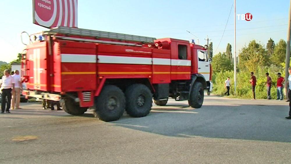 Пожарная машина в Абхазии