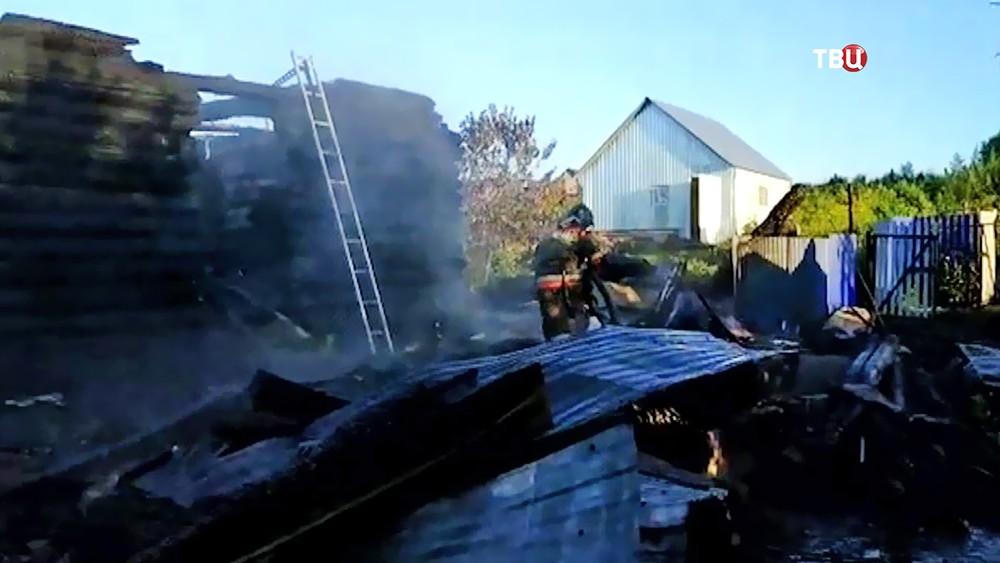 Последствия пожара в деревянном доме