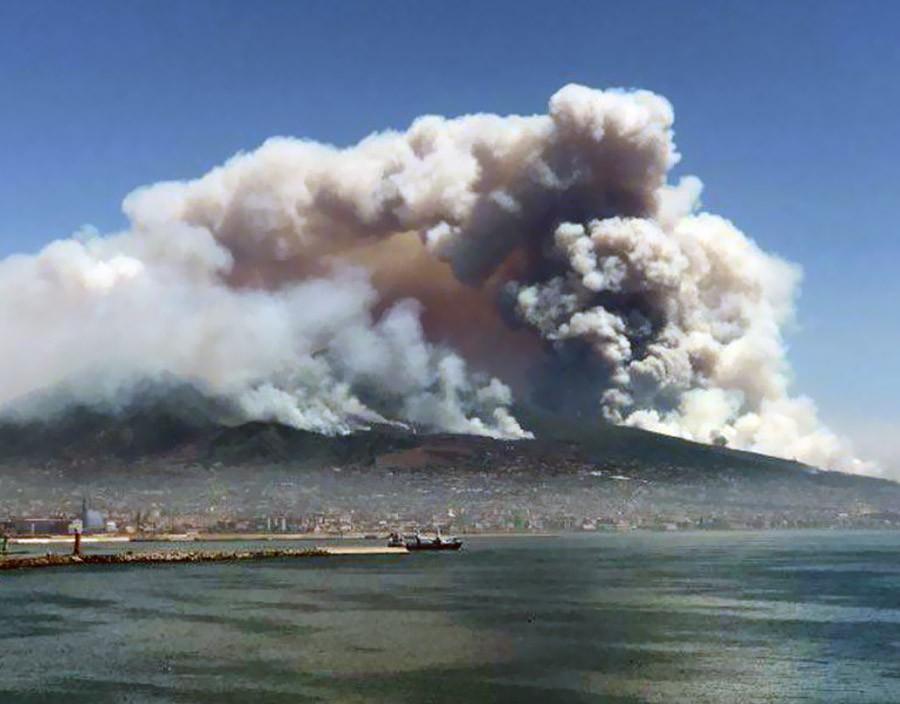 Лесные пожары в Италии