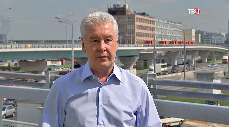 Сергей Собянин на открытии эстакады