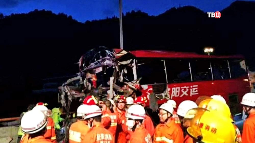 ДТП с участием автобуса в Китае