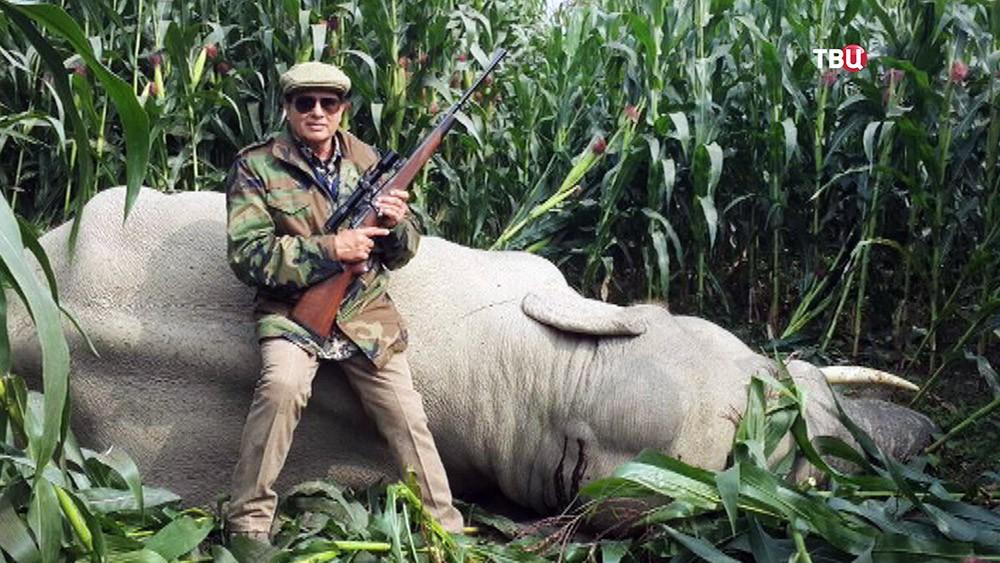 Охотник убивший слона