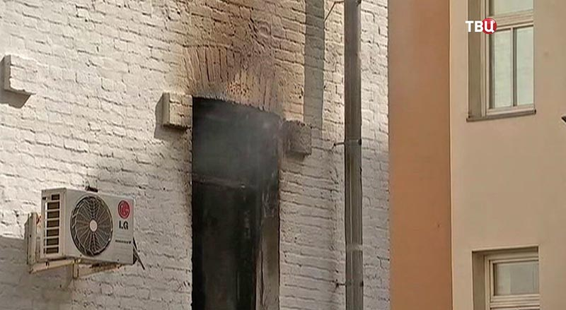 Пожар в пятиэтажке