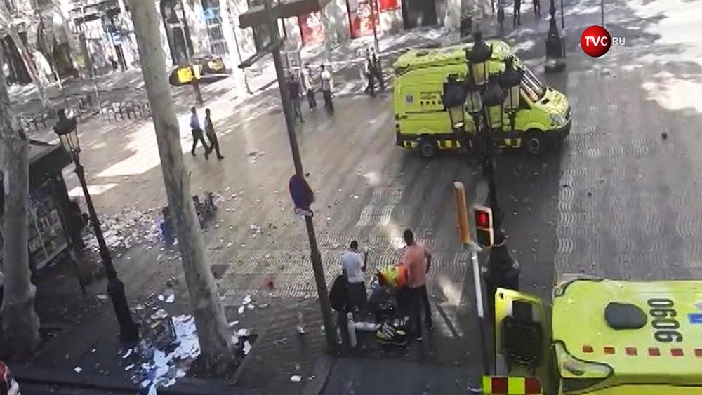 Скорая помощь на месте происшествия в Испании