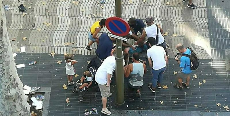 На месте теракта в Испании
