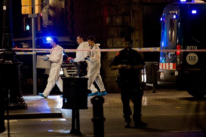На месте теракта в Барселоне