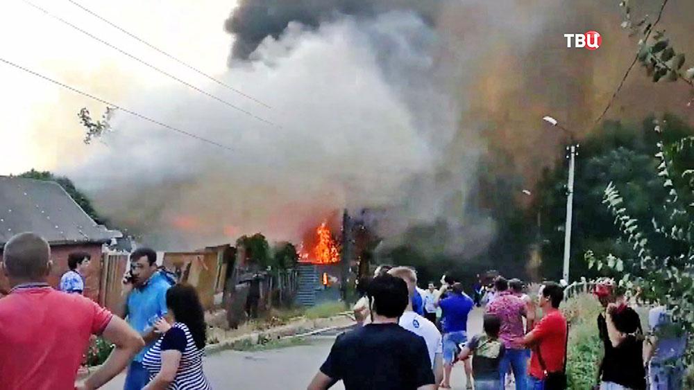 Ликвидация пожара в Ростове-на-Дону