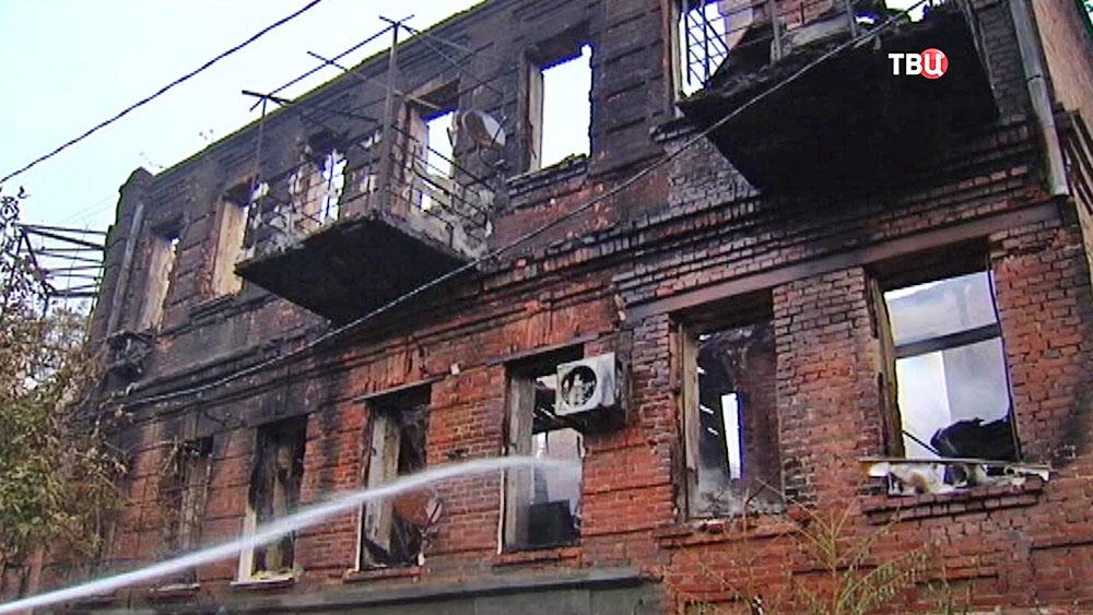Последствия пожара в Ростове-на-Дону