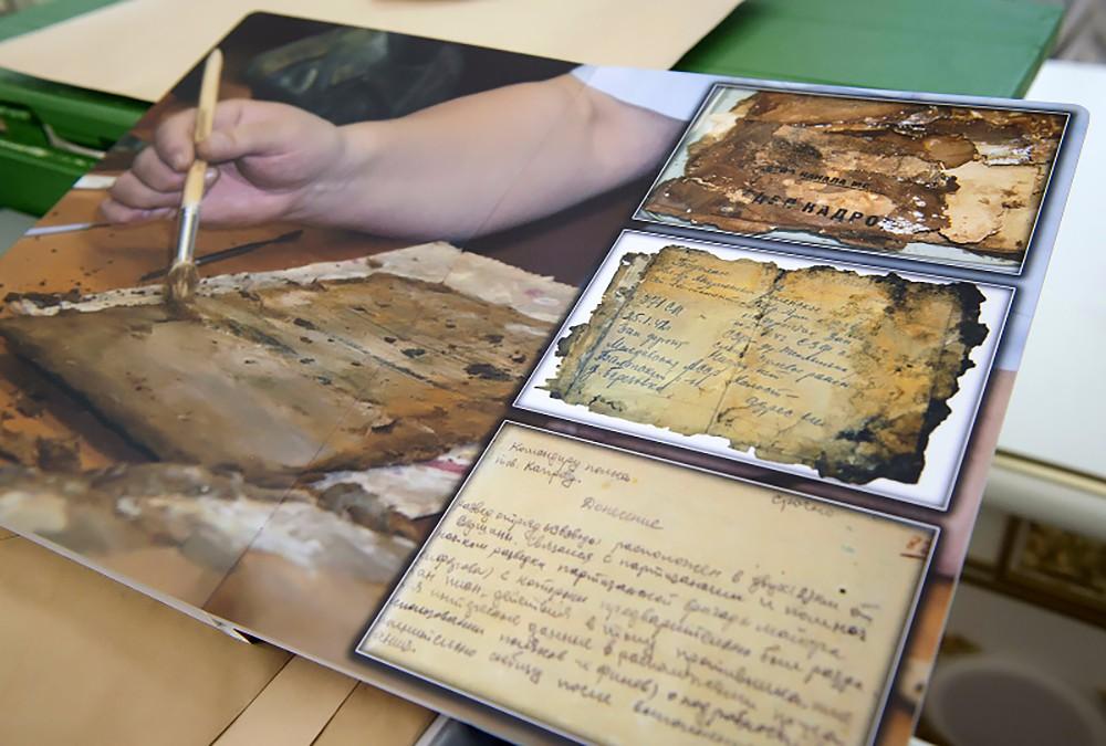 Документы времен Великой Отечественной войны, найденные поисковиками
