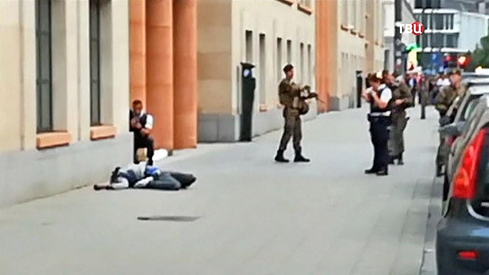 Полиция Брюсселя на месте теракта