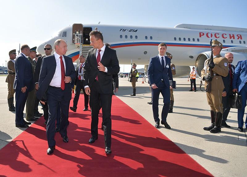 Визит президента России Владимира Путина в Венгрию