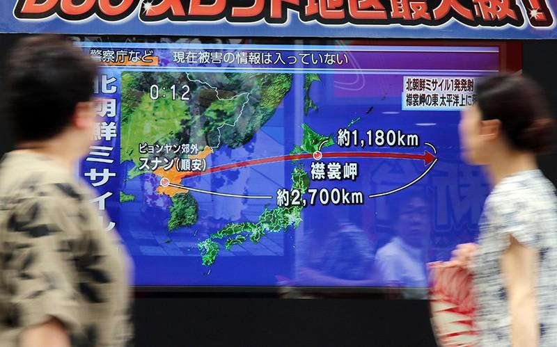 Траектория полета ракеты КНДР