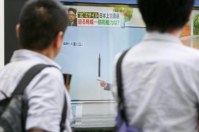 Пуск ракеты КНДР на телеэкране