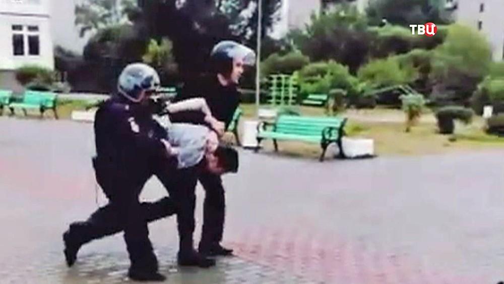 Задержание школьника, устроившего стрельбу в Ивантеевке