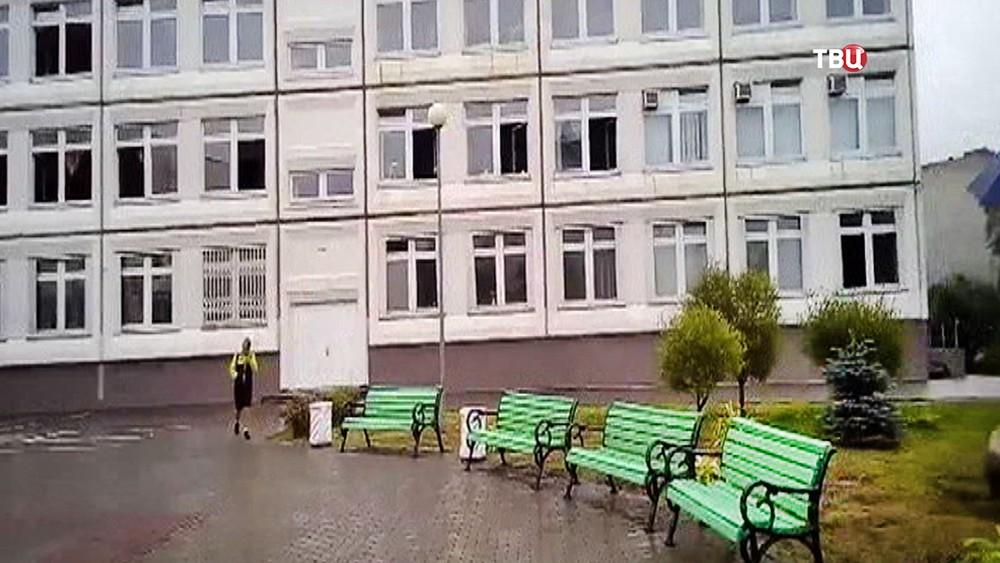 Школа в Ивантеевке, где произошла стрельба