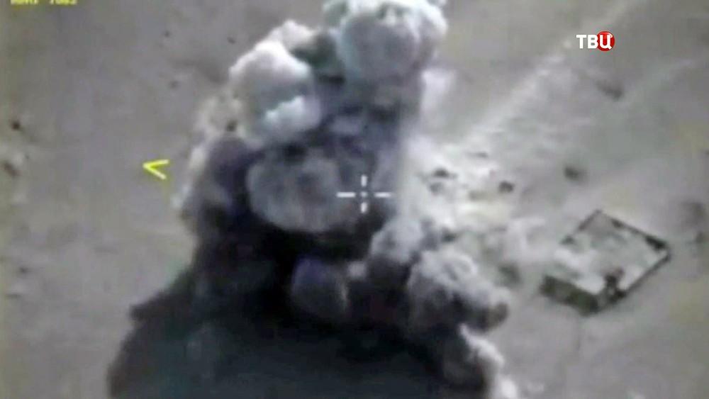 Ракетный удар по позициям ИГИЛ в Сирии