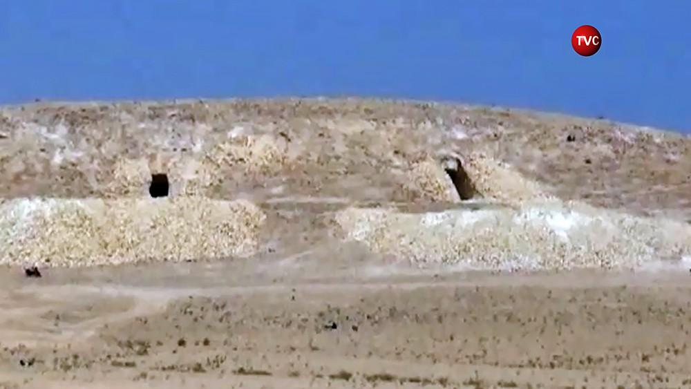 Бункеры террористов ИГИЛ в Сирии