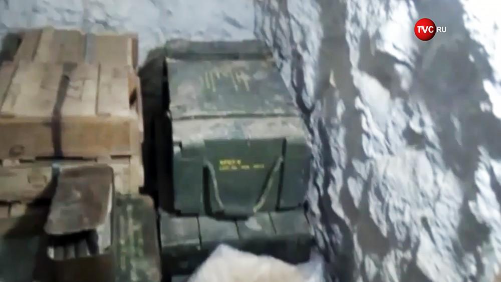 Брошенное оружие террористов ИГИЛ в Сирии