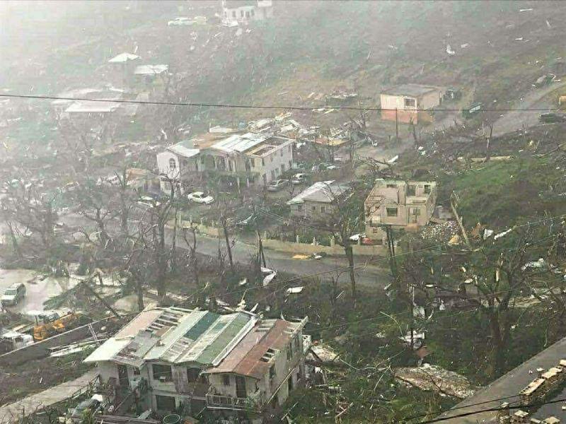 """Последствия урагана """"Ирма"""" на Карибских островах"""