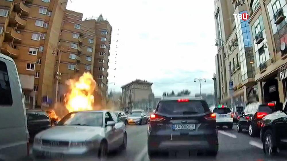 Взрыв автомобиля в Киеве, где погиб Тимур Махаури