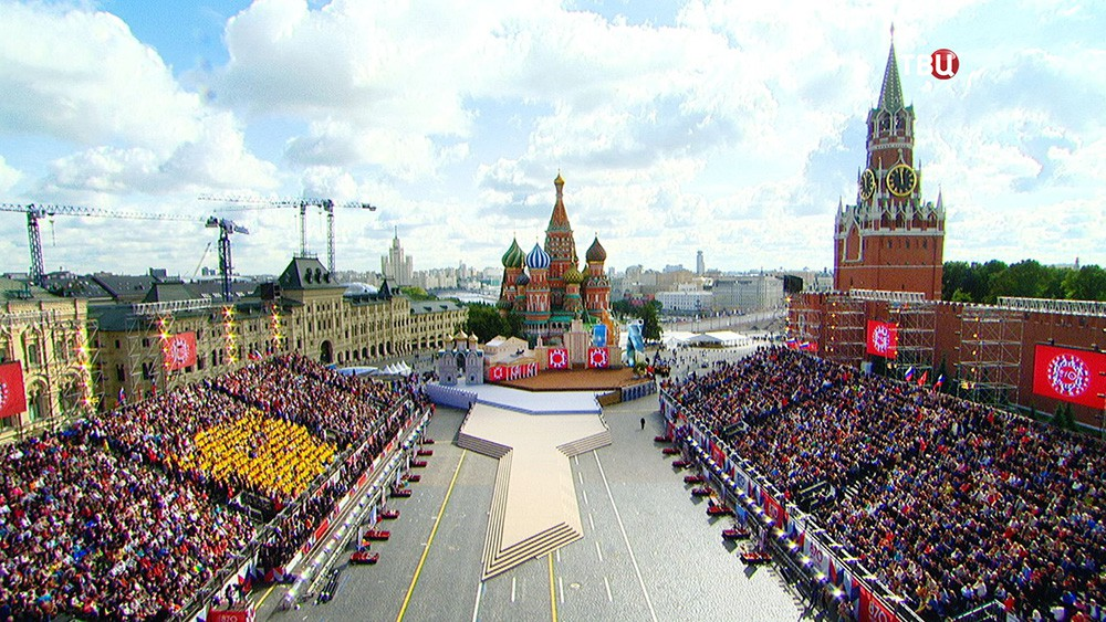 Церемония открытия Дня города началась на Красной площади