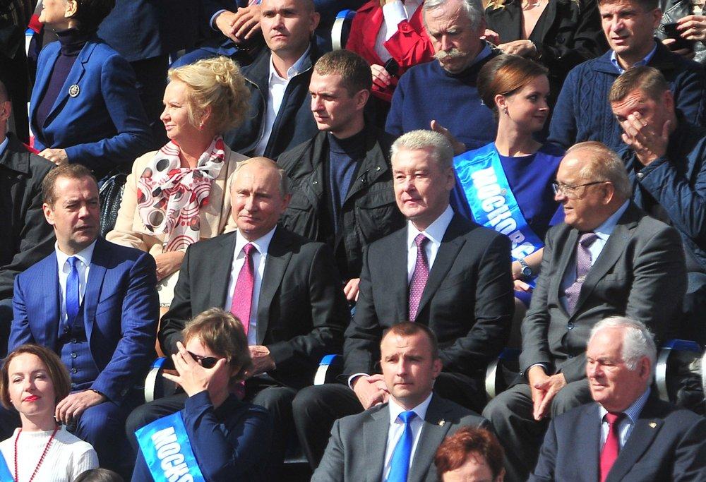 Владимир Путин, Дмитрий Медведев и Сергей Собянин