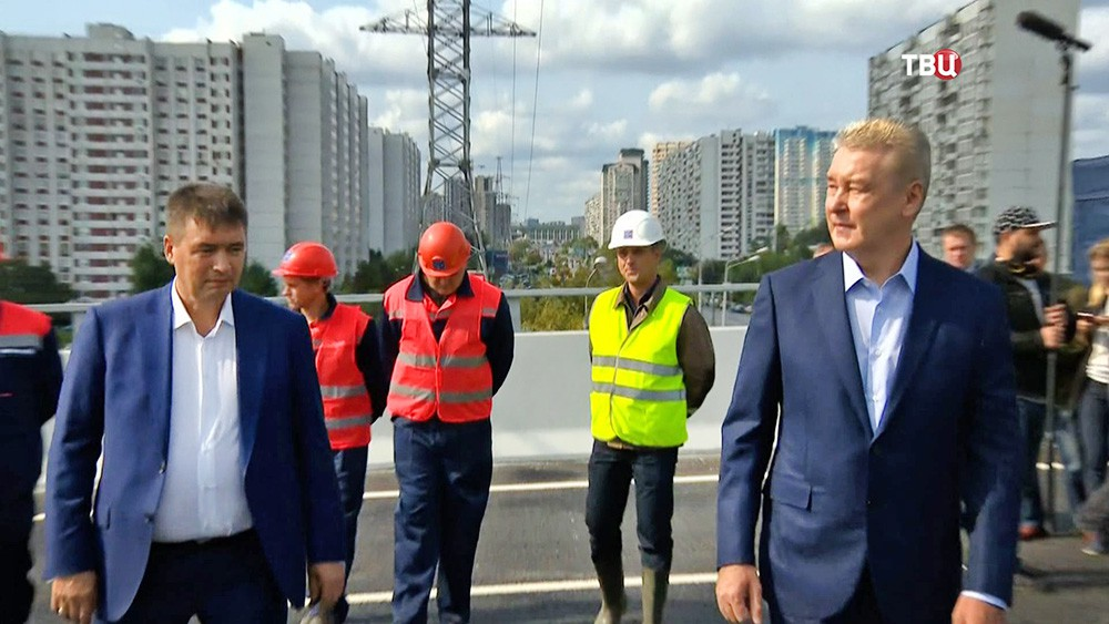 Сергей Собянин открыл новую эстакаду