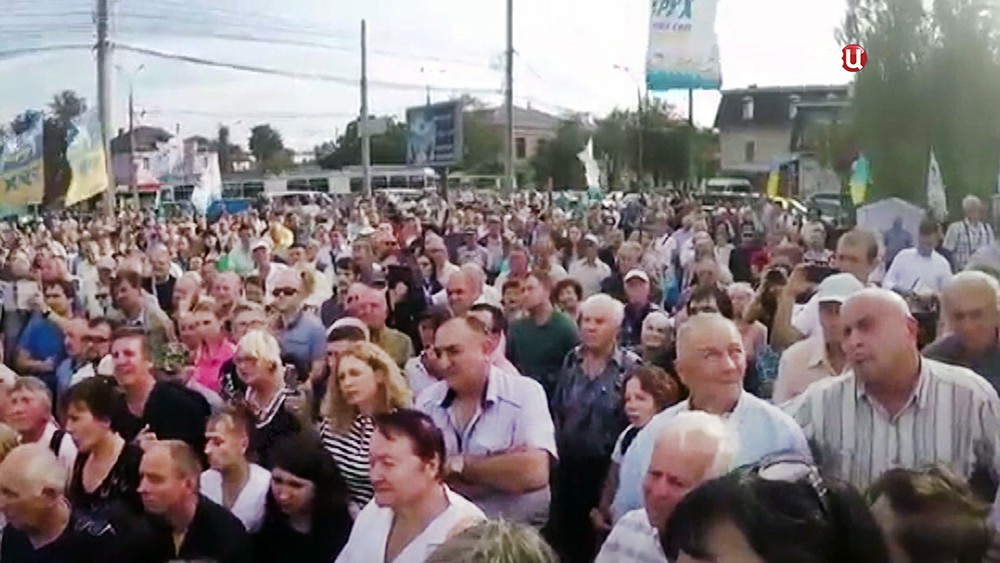 Сторонники Михаила Саакашвили