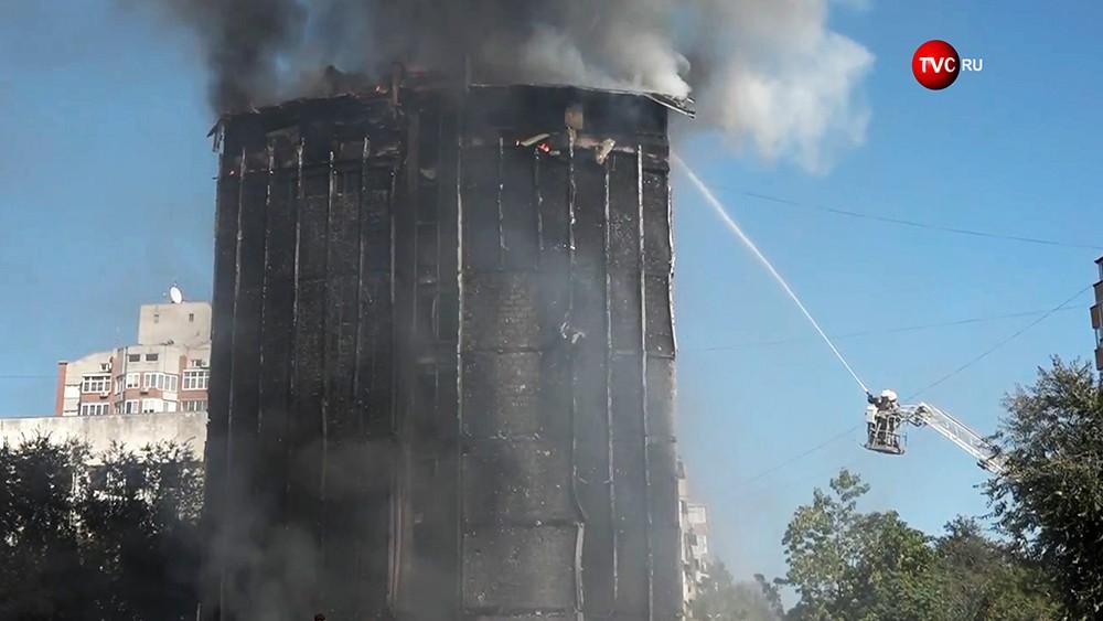 Пожар в гостинице в Ростове-на-Донуо